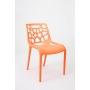design chair,stackable,orange