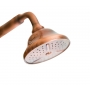 bath mixer ROYAL, white lever, NEW OLD hand shower kit, copper