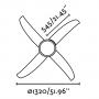 ventilator-light Wind, white, 2XE27 20W, bulbs not included