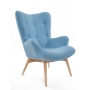 armchair Burg, blue fabric