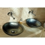 ATTILA ceramic washbasin diameter 43cm, ceramic, kerosene color