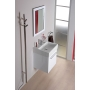 Electric towel rack, round 150x1500 mm, 30W, stainless steel