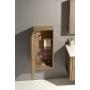 LARITA storage cabinet 40x90x25cm, left-right, oak natural