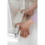 AGGA Shower Enclosure 800x800x1850 mm, clear glass
