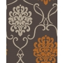 Accents Damask Chocolate/Orange