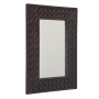 BATIK mirror with frame, 60x80cm, Dark Brown