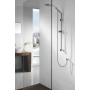 TILA Slide Shower Bar with Soap Dish, Chrome