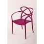 plastic armchair Cocha, purple