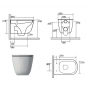 rimless wall hung toilet Tribeca