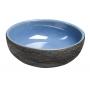 PRIORI ceramic basin, blue/grey