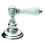 shower mixer top mount 3/4´´,raw brass