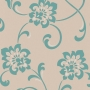 Decadence Jacobean Floral White/Blue