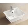 Ceramic countertop washbasin Square1 49,5x41,5x19,5 cm, white