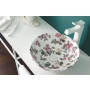ceramic worktop basin Sicilia, pattern Floral