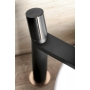 KAISA High Washbasin Mixer Tap without Pop Up Waste, black/pink gold