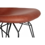 """chair Alexis, brown PU leather, black metal """"Y"""" feet"""