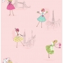 Hoopla Vintage Fairies SidewallPink
