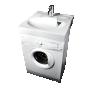 valge valamu pesumasina peale, komplektis seinakinnitused,sifoon ja kivimassist seebialus