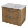 LARITA vanity unit 71x55x48cm,oak natural