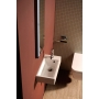 ARIANA Cast marble washbasin 50x10x25 cm, left, white