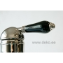 high basin mixer with pop-up, bright nickel, black ceramic handle