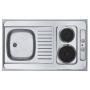 miniköök COMBI ELEKTRA, 100x60 cm, roostevaba, satiin, 230V, 3000W, kaasas 1,5 m kaabel