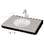 silkstone basin Round, worktop mount