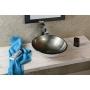 Damar glass washbasin diameter 42cm, mettalic gray