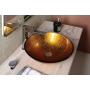 Ago glass washbasin diameter 42 cm, golden