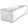 PRELUDE acrylic bathtub on frame with long and short skirt