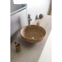 PRIORI ceramic basin diameter 42cm, ceramic, brown color with painting