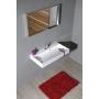ORINOKO Cultured Marble Washbasin 90x9x46cm, white